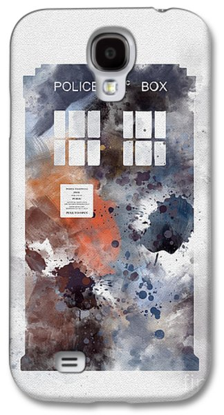 Tardis Galaxy S4 Cases - The Blue Box Galaxy S4 Case by Rebecca Jenkins