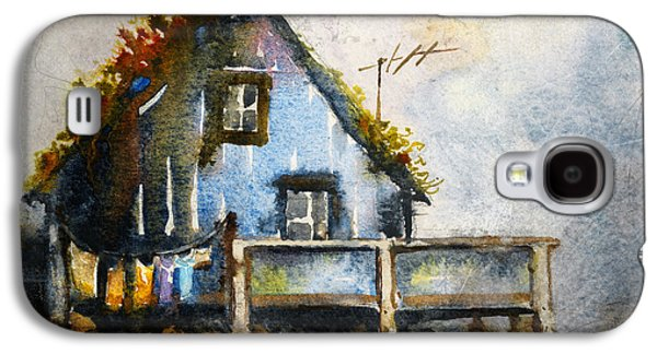 Norway Galaxy S4 Cases - The Blue House Galaxy S4 Case by Kristina Vardazaryan