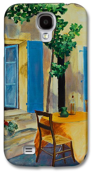 Wine Scene Galaxy S4 Cases - The Blue Shutters Galaxy S4 Case by Elise Palmigiani