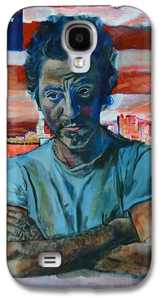 Bruce Springsteen Paintings Galaxy S4 Cases - The Boss In New Jersey Galaxy S4 Case by Luci Ferguson