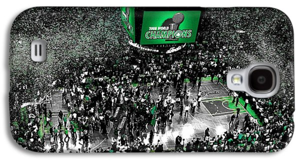 The Boston Celtics 2008 Nba Finals Galaxy S4 Case by Brian Reaves