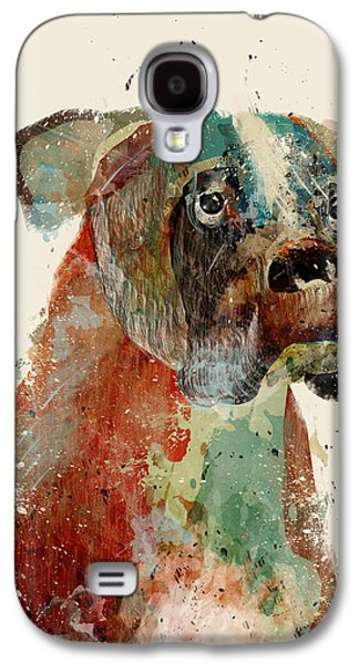 Boxer Dog Digital Galaxy S4 Cases - The Boxer Galaxy S4 Case by Bri Buckley