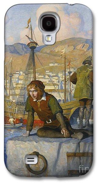 The Boy Columbus On The Wharf Galaxy S4 Case by Wyeth