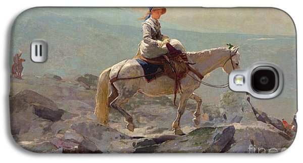 Mountainous Paintings Galaxy S4 Cases - The Bridal Path Galaxy S4 Case by Winslow Homer