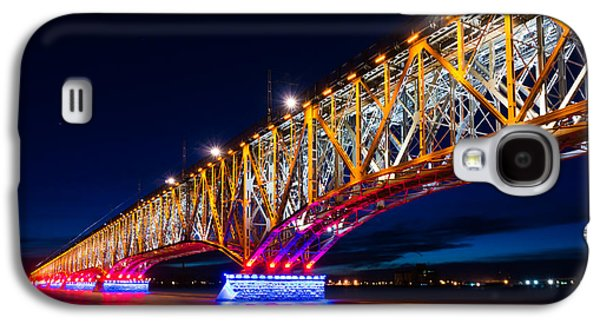 Landmarks Photographs Galaxy S4 Cases - The bridge of light Galaxy S4 Case by Dmytro Korol