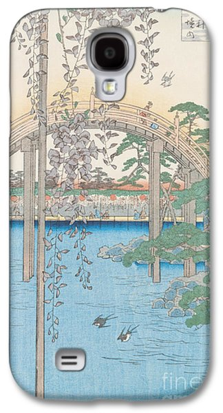 The Bridge With Wisteria Galaxy S4 Case by Hiroshige