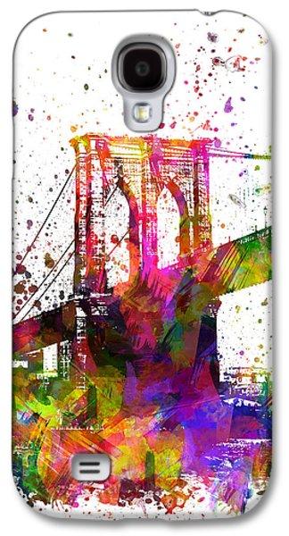 Brooklyn Bridge Digital Galaxy S4 Cases - The Brooklyn Bridge 04 Galaxy S4 Case by Aged Pixel