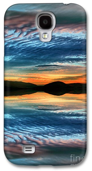 Sunset Abstract Galaxy S4 Cases - The Brush Strokes of Evening Galaxy S4 Case by Tara Turner