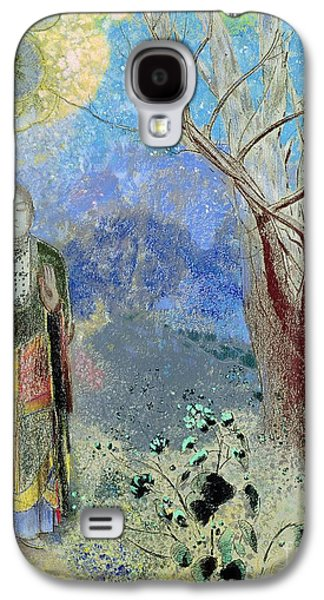 Spirituality Galaxy S4 Cases - The Buddha Galaxy S4 Case by Odilon Redon