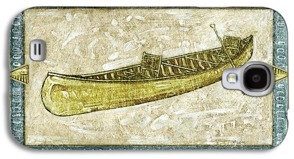 Canoe Paintings Galaxy S4 Cases - The Canoe Galaxy S4 Case by JQ Licensing