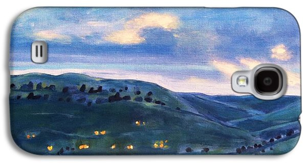Fort Collins Paintings Galaxy S4 Cases - The Canyon Leading to Horsetooth Galaxy S4 Case by Maureen Carrigan