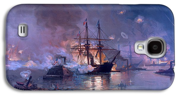 Night Sky Paintings Galaxy S4 Cases - The Capture of New Orleans during the Civil War Galaxy S4 Case by American School