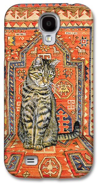 Persian Carpet Galaxy S4 Cases - The Carpet Cat Galaxy S4 Case by Ditz