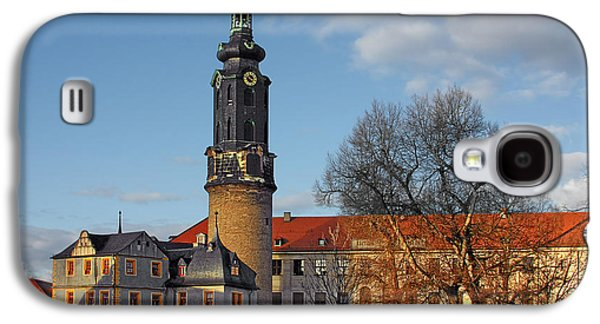 Landmarks Photographs Galaxy S4 Cases - The Castle - Weimar - Thuringia - Germany Galaxy S4 Case by Christine Till