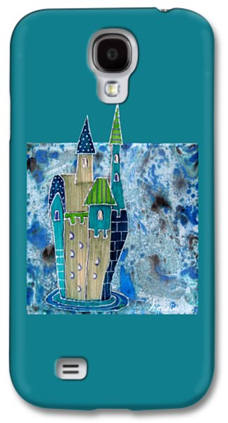 Loose Style Mixed Media Galaxy S4 Cases - The castle descends Galaxy S4 Case by Aqualia
