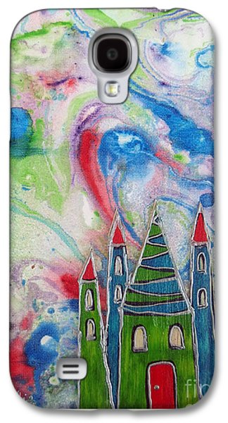 Youthful Mixed Media Galaxy S4 Cases - The castle forgives Galaxy S4 Case by Aqualia