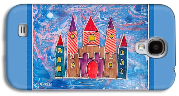 Youthful Mixed Media Galaxy S4 Cases - The castle is festive Galaxy S4 Case by Aqualia