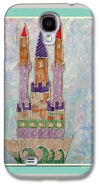 Youthful Mixed Media Galaxy S4 Cases - The castle travels Galaxy S4 Case by Aqualia