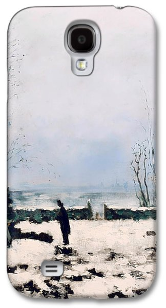 Headstones Paintings Galaxy S4 Cases - The Cemetery Galaxy S4 Case by Carl Frederik Hill