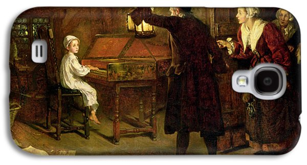 Hidden Galaxy S4 Cases - The Child Handel Discovered by his Parents Galaxy S4 Case by Margaret Isabel Dicksee
