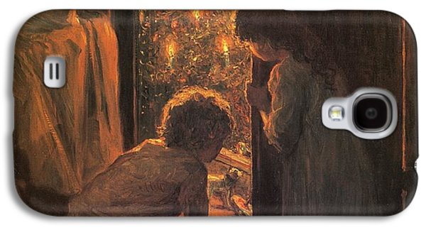 Sisters Galaxy S4 Cases - The Christmas Tree Galaxy S4 Case by Henry Mosler