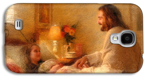 Jesus Art Galaxy S4 Cases - The Comforter Galaxy S4 Case by Greg Olsen