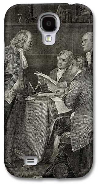 Franklin Drawings Galaxy S4 Cases - The Committee Of Five Drafting Galaxy S4 Case by Ken Welsh