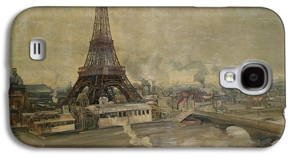 The Construction Of The Eiffel Tower Galaxy S4 Case by Paul Louis Delance