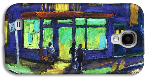 Quebec Streets Paintings Galaxy S4 Cases - The Corner Store Galaxy S4 Case by Richard T Pranke