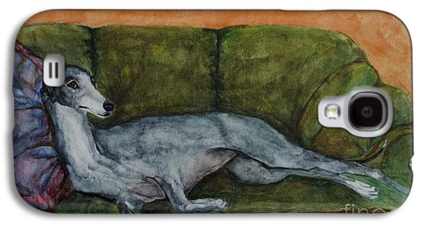 Greyhound Galaxy S4 Cases - The Couch Potatoe Galaxy S4 Case by Frances Marino