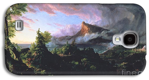 Wilderness Paintings Galaxy S4 Cases - The Course of Empire - The Savage State Galaxy S4 Case by Thomas Cole