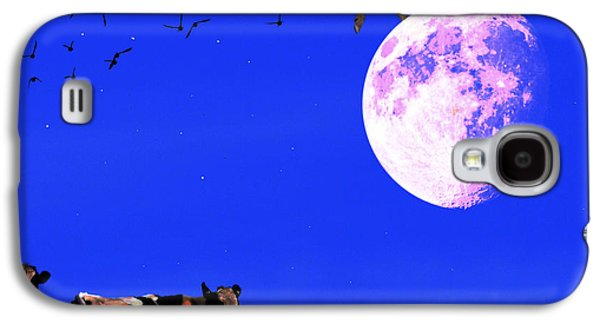 Cow Digital Galaxy S4 Cases - The Cow Jumped Over The Moon . Square Galaxy S4 Case by Wingsdomain Art and Photography