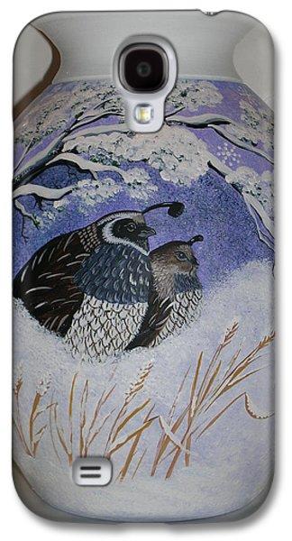 Bird Ceramics Galaxy S4 Cases - The Cozy Couple Galaxy S4 Case by Jennifer Lake