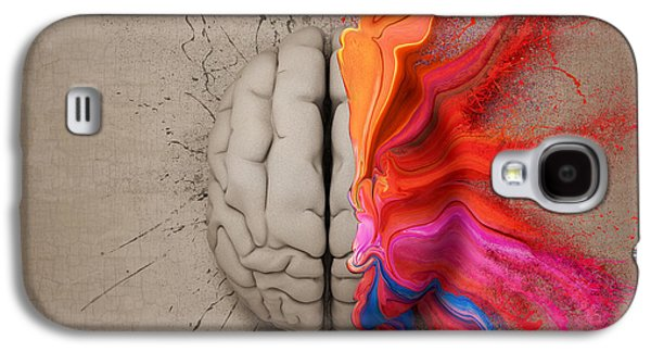 Thinking Galaxy S4 Cases - The Creative Brain Galaxy S4 Case by Johan Swanepoel
