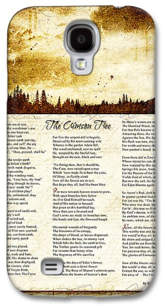 The Crimson Tree Poem Galaxy S4 Case by Gary Bodnar
