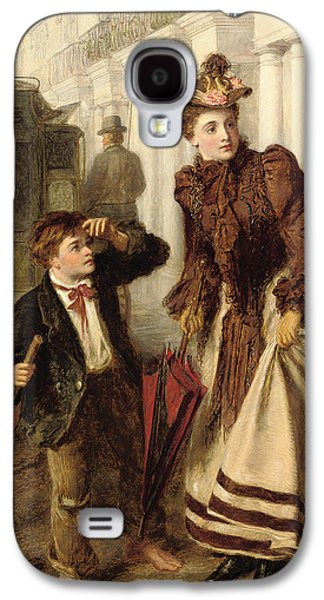 Laborers Galaxy S4 Cases - The Crossing Sweeper Galaxy S4 Case by William Powell Frith