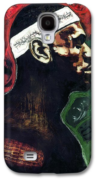 Lebron Paintings Galaxy S4 Cases - The Crucifiction Of Lebron James Galaxy S4 Case by Vernell Garrett