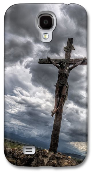Crucifixtion Galaxy S4 Cases - The Crucifixtion Galaxy S4 Case by Lena Sandoval-Stockley