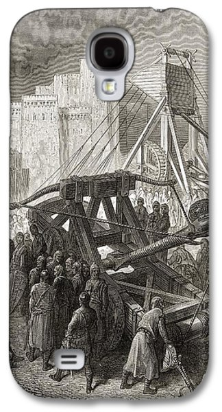 Machinery Drawings Galaxy S4 Cases - The Crusaders War Machinery Galaxy S4 Case by Ken Welsh