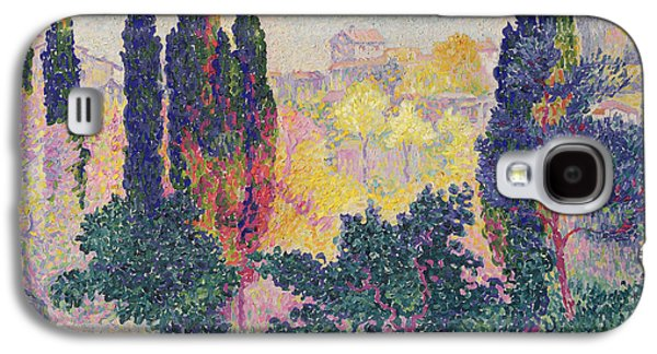 The Cypresses At Cagnes Galaxy S4 Case by Henri-Edmond Cross
