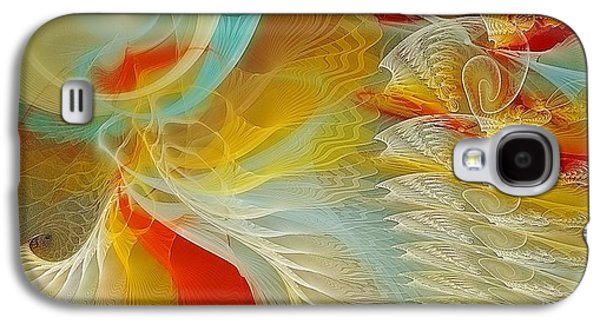 Fractal Pastels Galaxy S4 Cases - The Dance of Life Galaxy S4 Case by Gayle Odsather