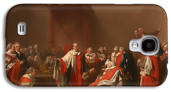 Chatham Paintings Galaxy S4 Cases - The Death Of Chatham - William Pitt 1st Earl Of Chatham Galaxy S4 Case by Benjamin Marshall