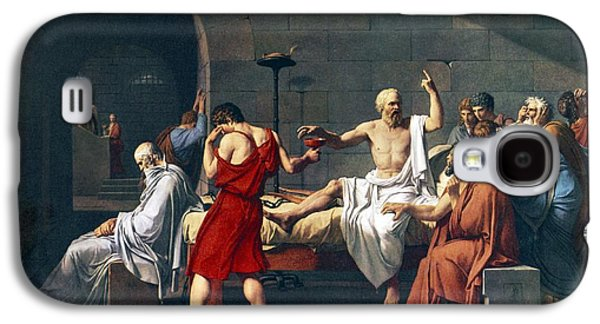 Rights Of Man Galaxy S4 Cases - The Death Of Socrates, 1787 Artwork Galaxy S4 Case by Sheila Terry