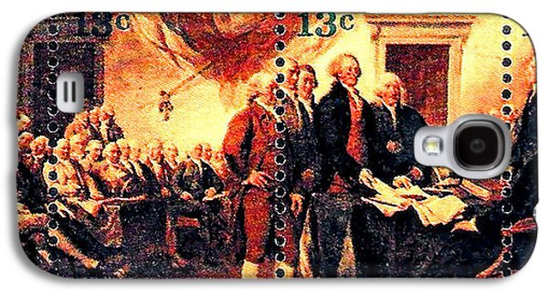 Declaration Of Independence Paintings Galaxy S4 Cases - The Declaration of Independence  Galaxy S4 Case by Lanjee Chee