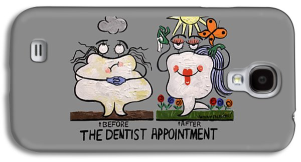 Framed Digital Galaxy S4 Cases - The Dentist Appointment T-shirt Galaxy S4 Case by Anthony Falbo