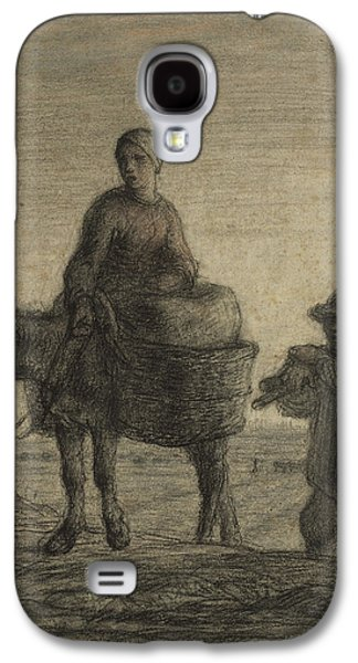 The Departure For Work Galaxy S4 Case by Jean-Francois Millet