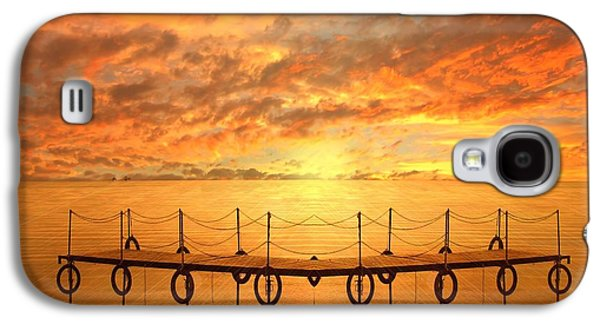 Waterscape Galaxy S4 Cases - The Dock Galaxy S4 Case by Photodream Art