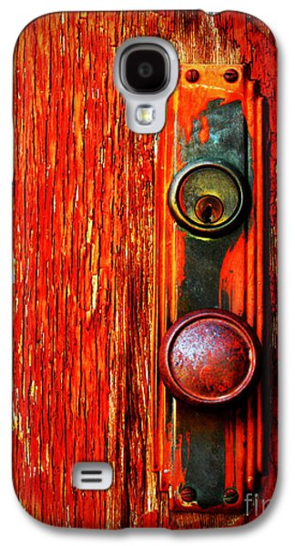 Red Galaxy S4 Cases - The Door Handle  Galaxy S4 Case by Tara Turner