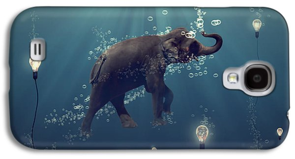 Surrealism Galaxy S4 Cases - The dreamer Galaxy S4 Case by Martine Roch
