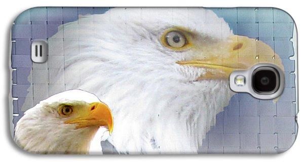 The View Mixed Media Galaxy S4 Cases - The Eagles Focus Galaxy S4 Case by Debra     Vatalaro